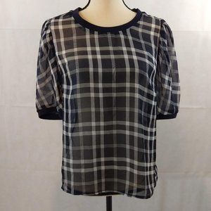 A New Day Top - Size Medium - Navy/White NWT